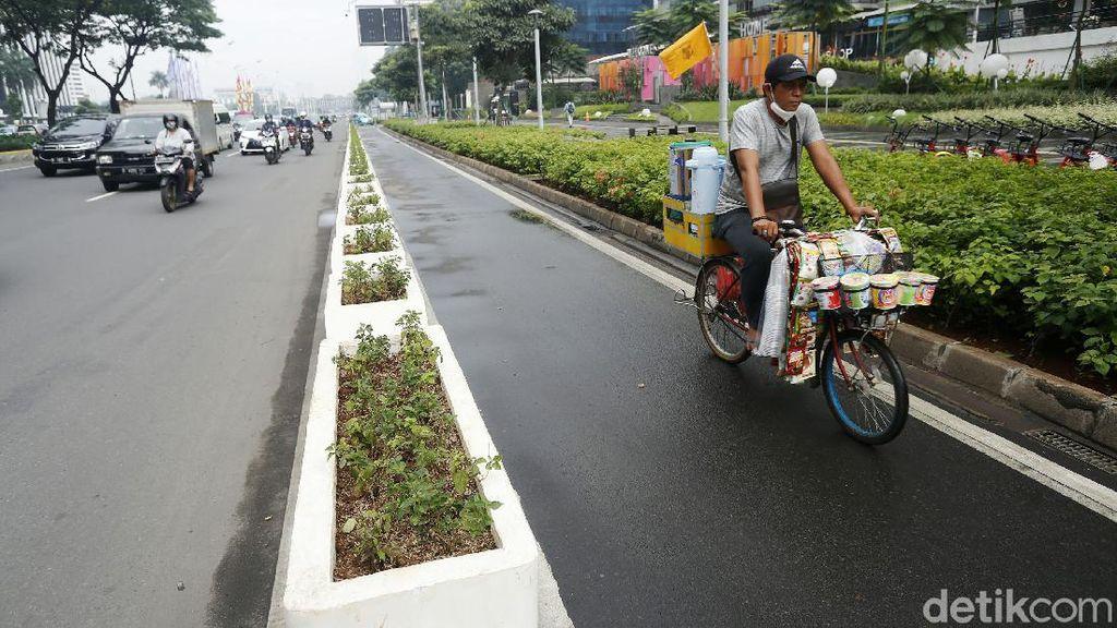 Begini Jalur Sepeda Sudirman yang Akan Dibongkar Kapolri