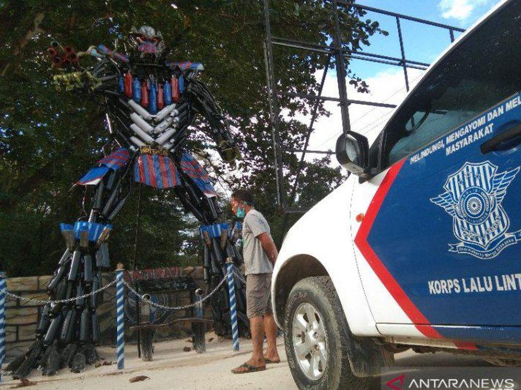 Knalpot Bising Sitaan Polisi Disulap Jadi Robot