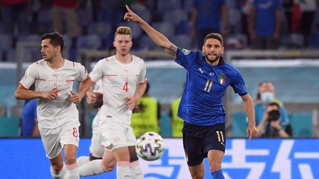 Soccer Football - Euro 2020 - Group A - Italy v Switzerland - Stadio Olimpico, Rome, Italy - June 16, 2021 Italy's Domenico Berardi in action Pool via REUTERS/Alberto Lingria