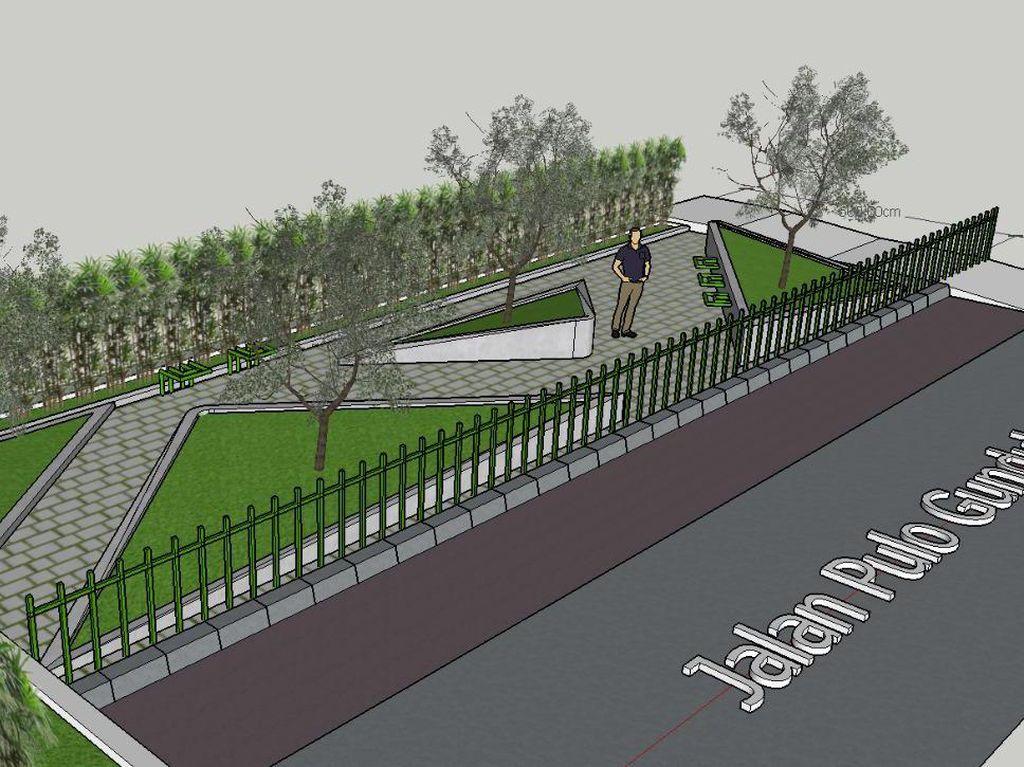Ini Desain Taman Sisi Jembatan Kota Paris yang Diharapkan Cegah Tawuran