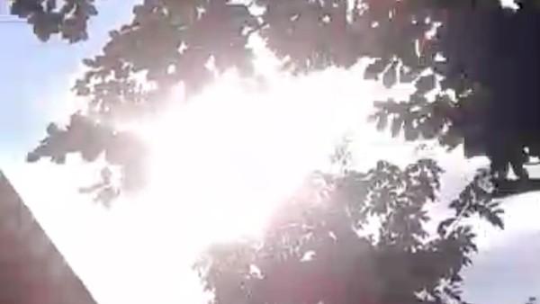 Tangkapan layar video viral matahari terbit dari utara di Kabupaten Jeneponto, Sulsel.