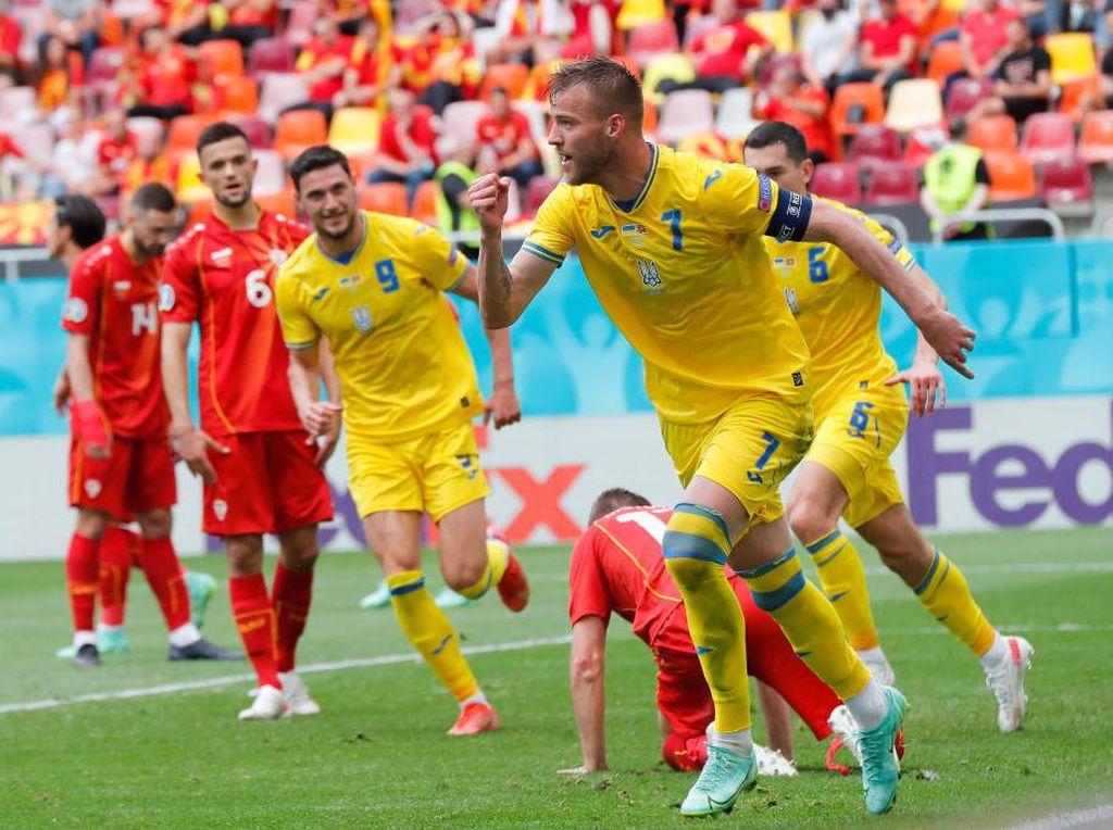 Hasil Ukraina Vs Makedonia Utara: Pasukan Shevchenko Menang 2-1