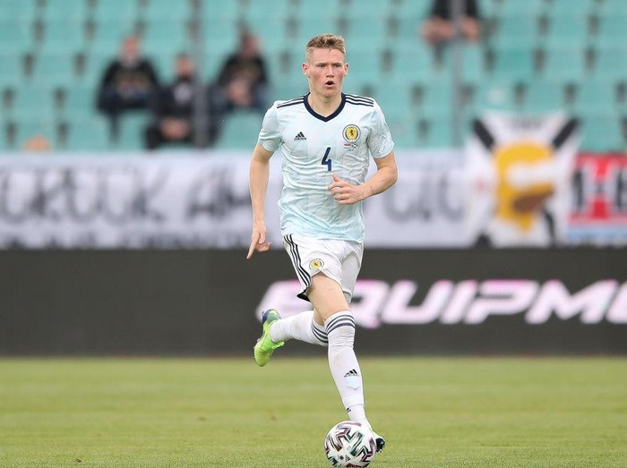 LUXEMBOURG, LUXEMBOURG - JUNE 06:  Scott McTominay of Scotland runs with the ball during the international friendly match between Luxembourg and Scotland at Stade Josy Barthel on June 06, 2021 in Luxembourg, Luxembourg. (Photo by Christian Kaspar-Bartke/Getty Images)