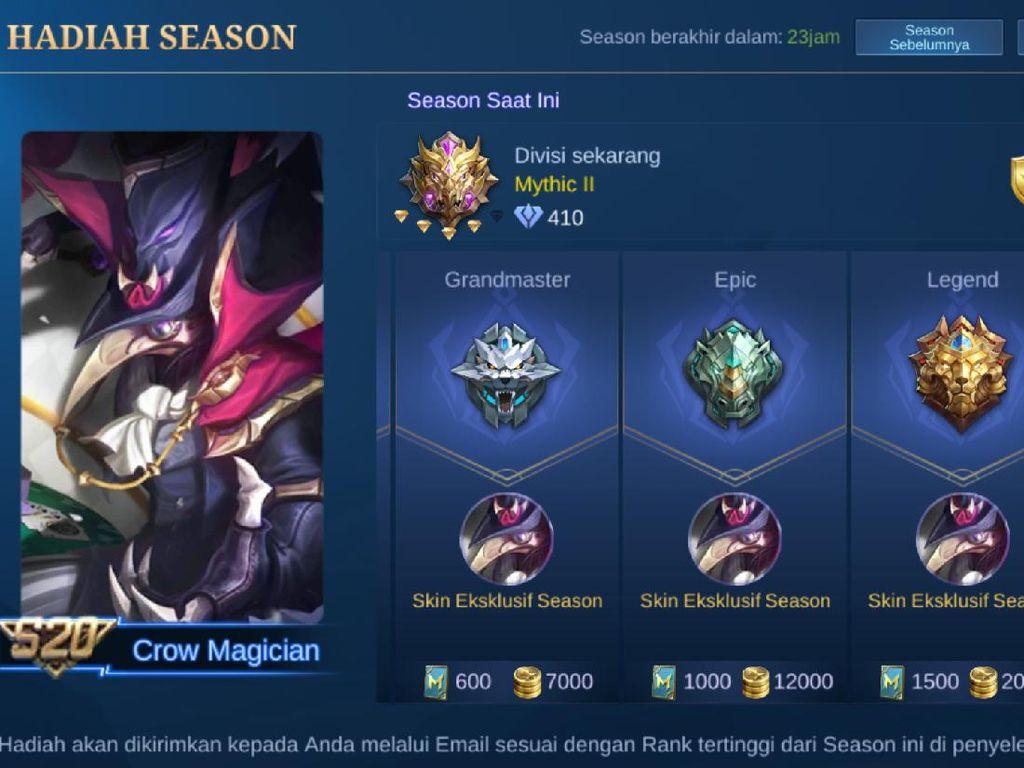 Season 20 Mobile Legends Berakhir! Dapat Hadiah Apa Saja Ya?