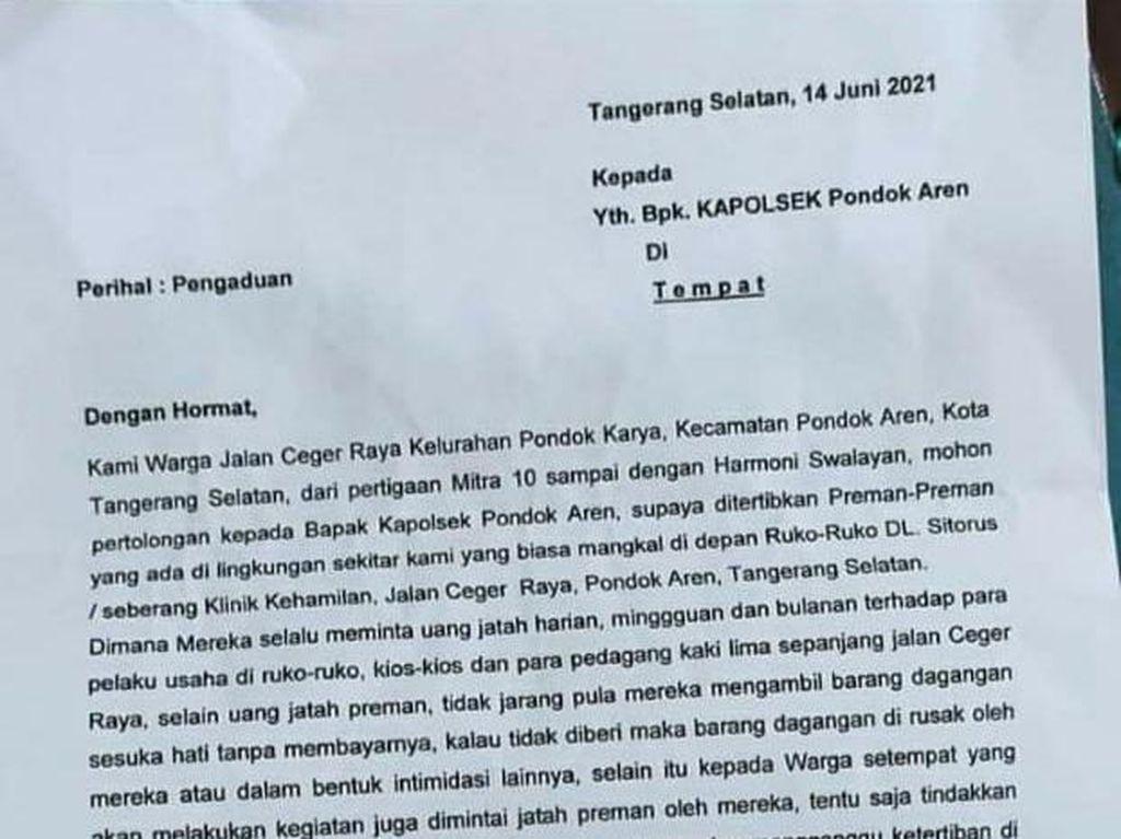 Warga Pondok Aren soal Preman Minta Jatah: Jika Tak Setor, Dagangan Diambil