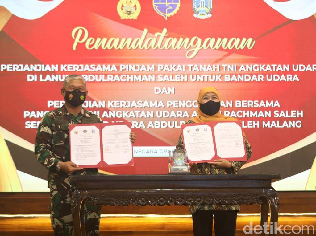 Pemprov Jatim Buat MoU dengan TNI AU soal Penggunaan Lanud Abdulrachman Saleh