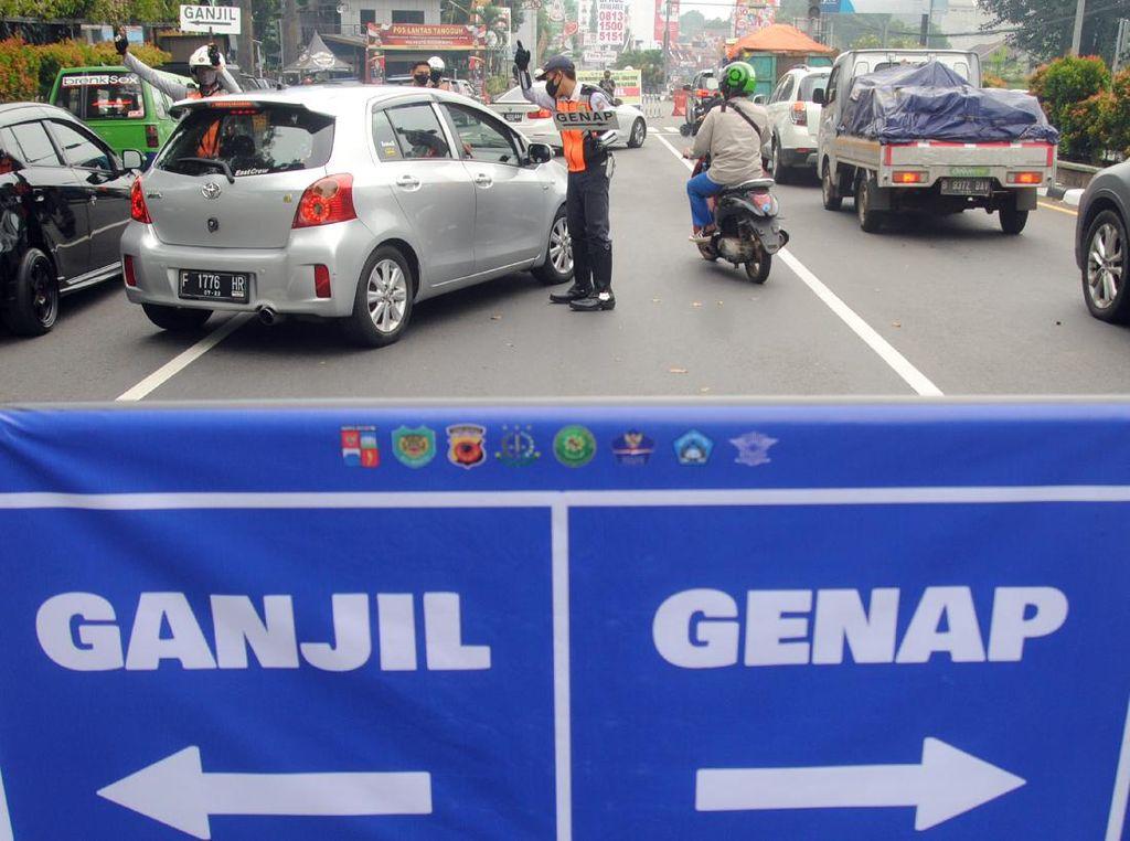 Bogor Terapkan Ganjil Genap, 3.343 Kendaraan Diputar Balik