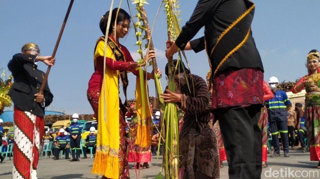 Foto Tradisi Manten Tebu di Blitar