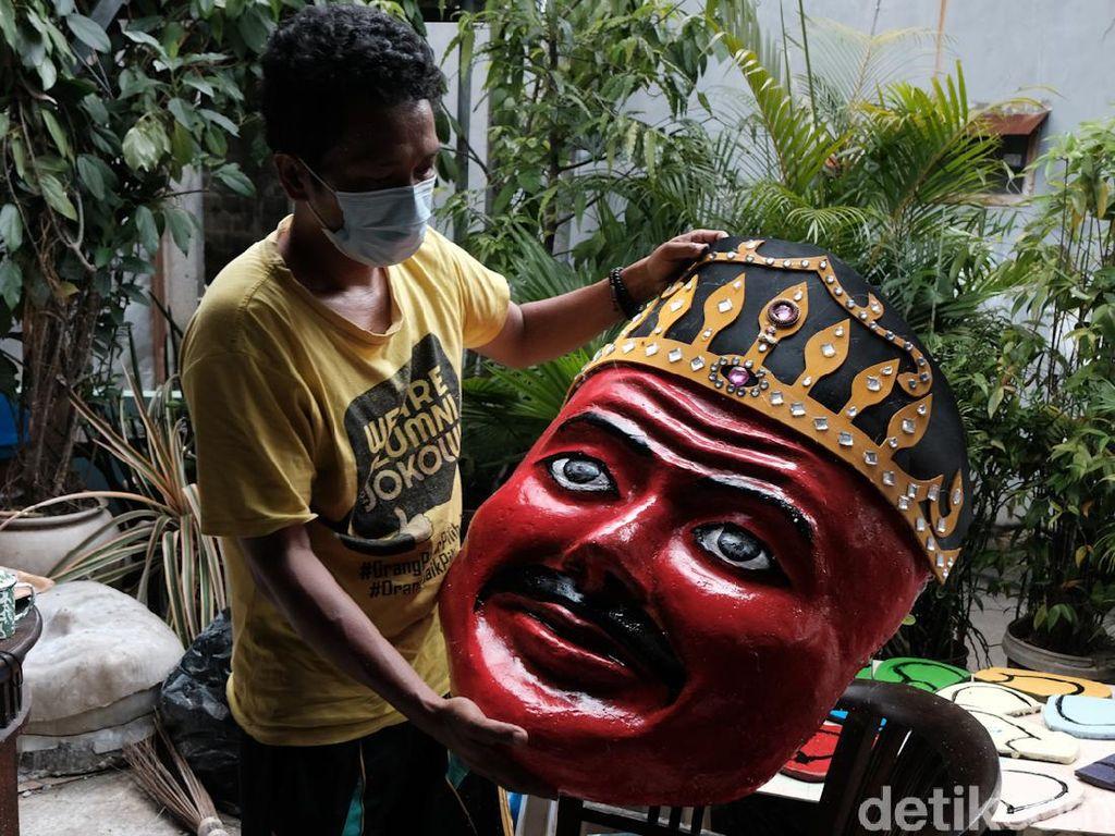 Geliat Perajin Ondel-ondel Jelang HUT Jakarta