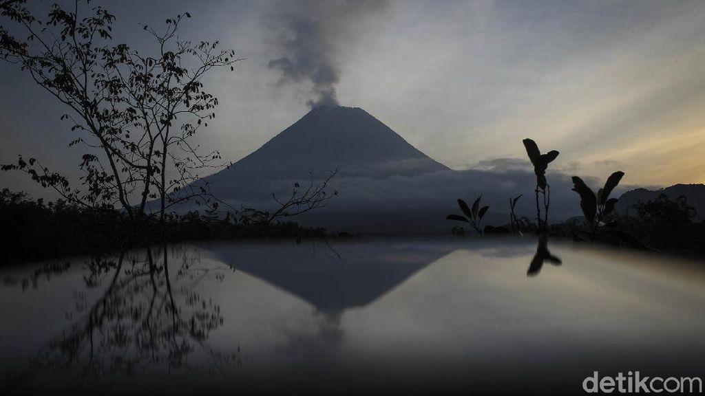 Potret Ciamik Gunung Merapi di Pagi Hari