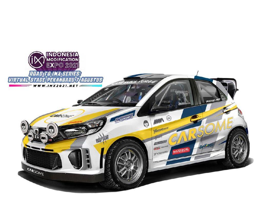 Hadiah IMX 2021 Virtual Stage Pekanbaru: Honda Brio 2015 Turbo Bergaya Reli