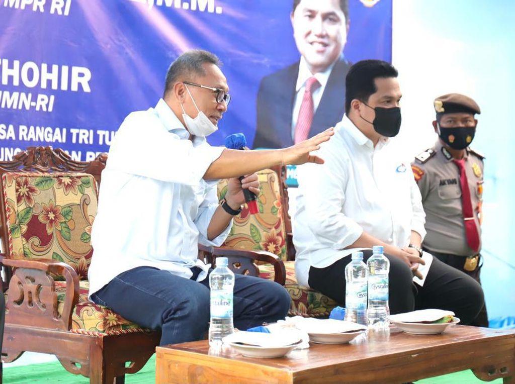 Duduk Bareng Ketum PAN Zulhas, Erick Thohir Digoda Maju Pilpres 2024