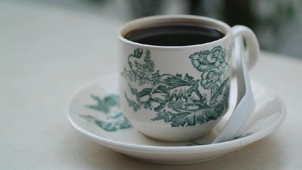 Coffee. black coffee on background