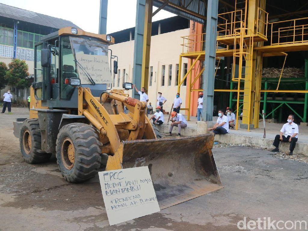 Karyawan Pabrik Gula Ini Demo Tuntut Proses Giling Dimulai