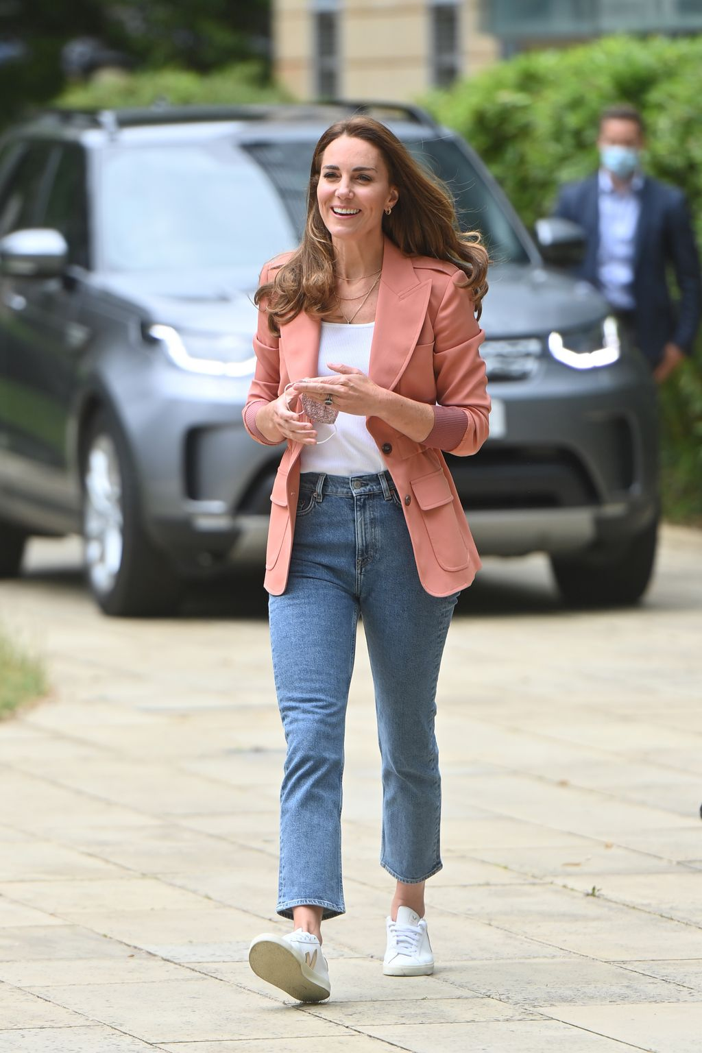 LONDON, ENGLAND - JUNE 22: Catherine, Duchess of Cambridge visits the UrbanNature Project at the Natural History Museum on June 22, 2021 in London, England. (Photo by Geoff Pugh - WPA Pool/Getty Images)