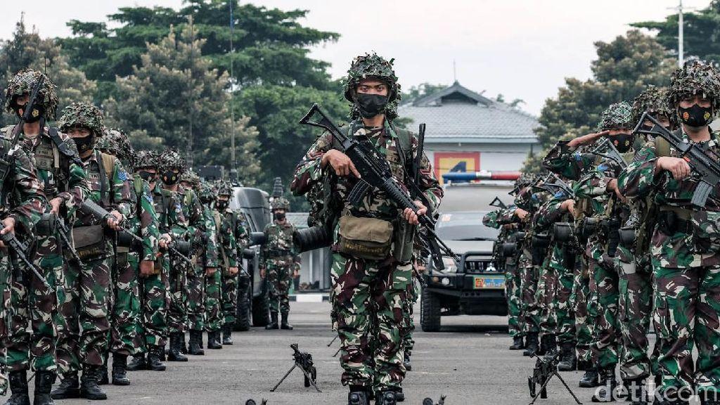 Marinir Gelar Apel Kesiapan Latihan Armada Jaya