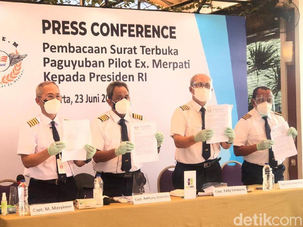 Pesangon Rp 318 Miliar Tak Kunjung Cair, Pilot Merpati Surati Jokowi