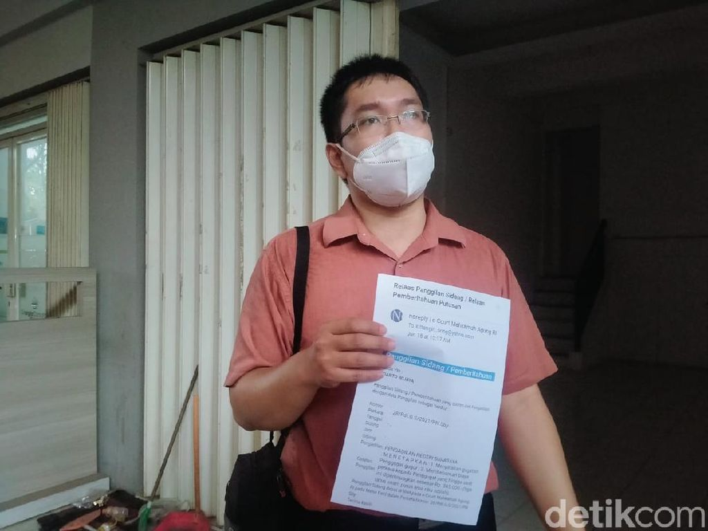 Seorang Hakim Pengadilan Negeri Surabaya Dilaporkan ke MA dan KY