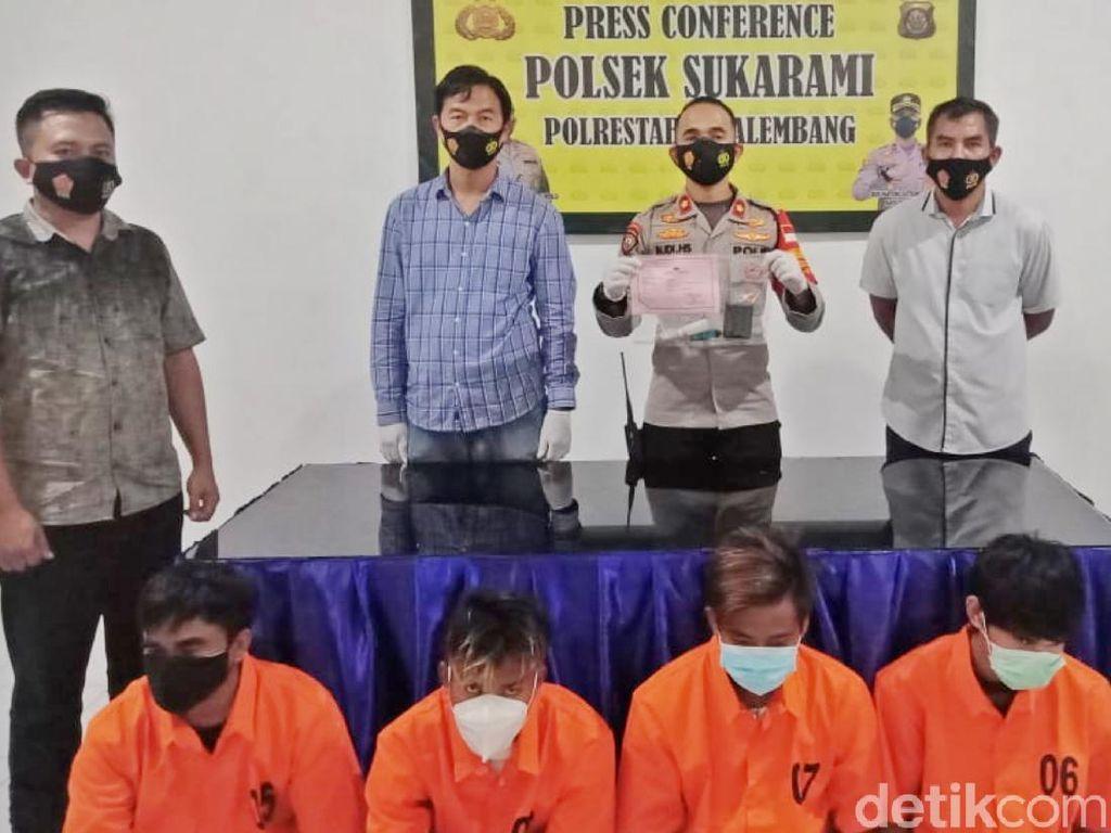 Oknum PNS di Sumsel dan 3 Rekannya Ditangkap Saat Pesta Sabu