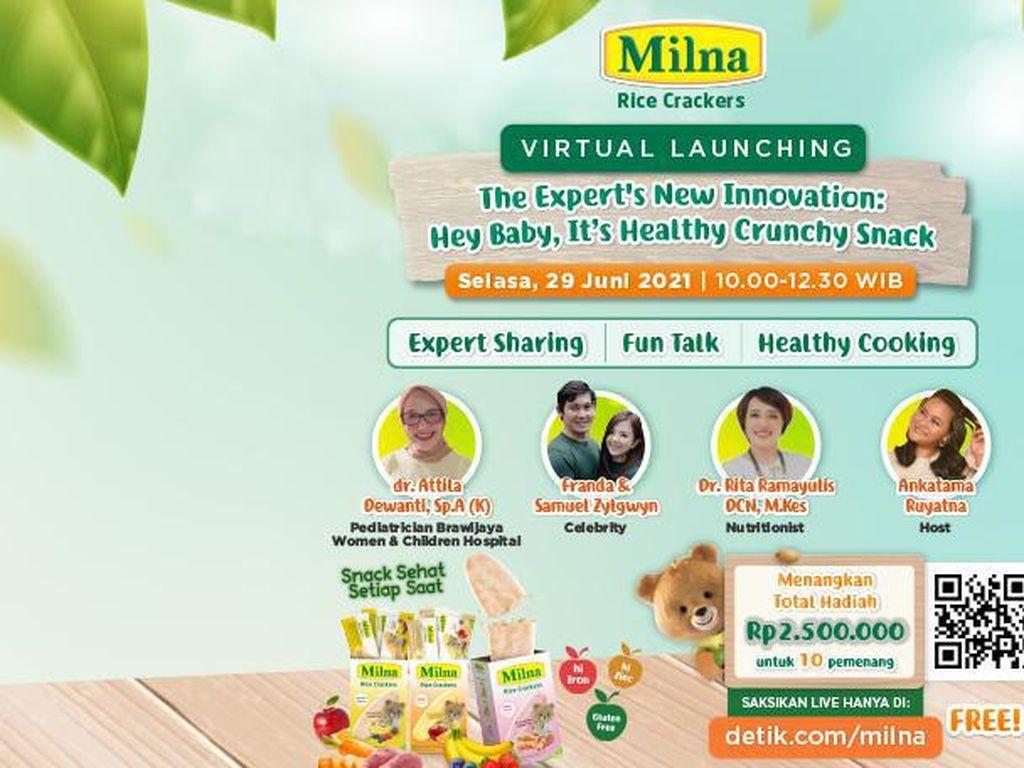 Hey Baby, Its Healthy Crunchy Snack: Inovasi Terbaru dari Milna!