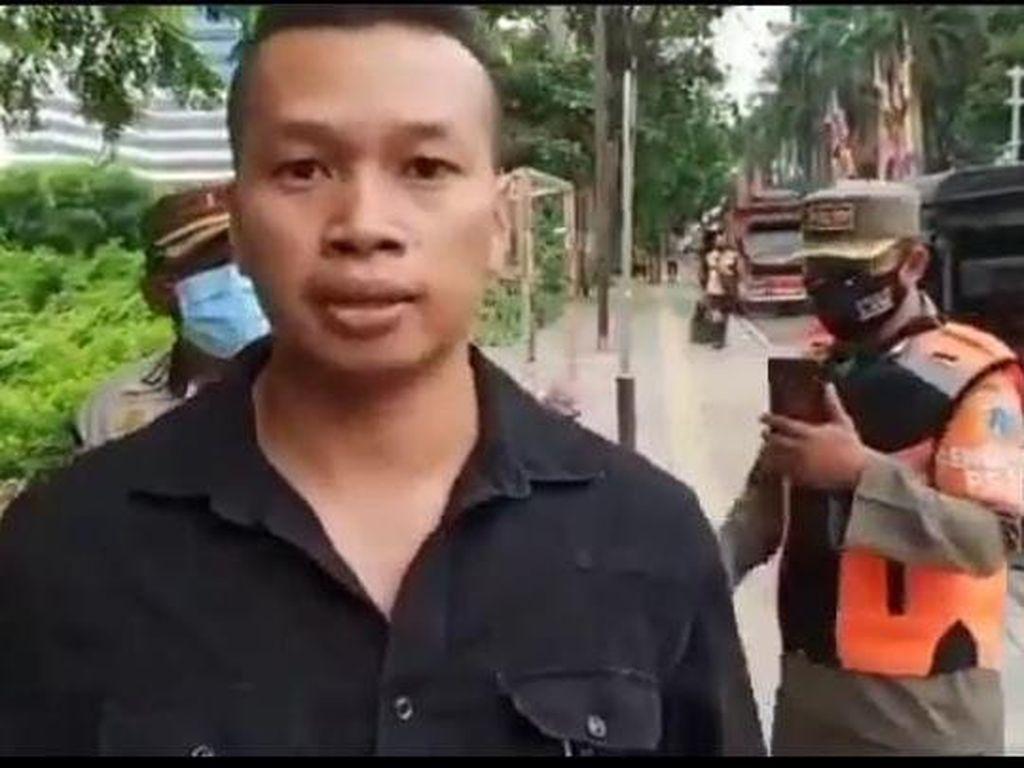 Viral Pria di Jakpus Sebut COVID Sudah Berakhir Saat Kena Razia Masker