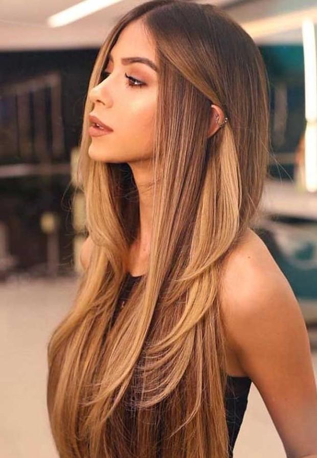 Warna Rambut Caramel Brown