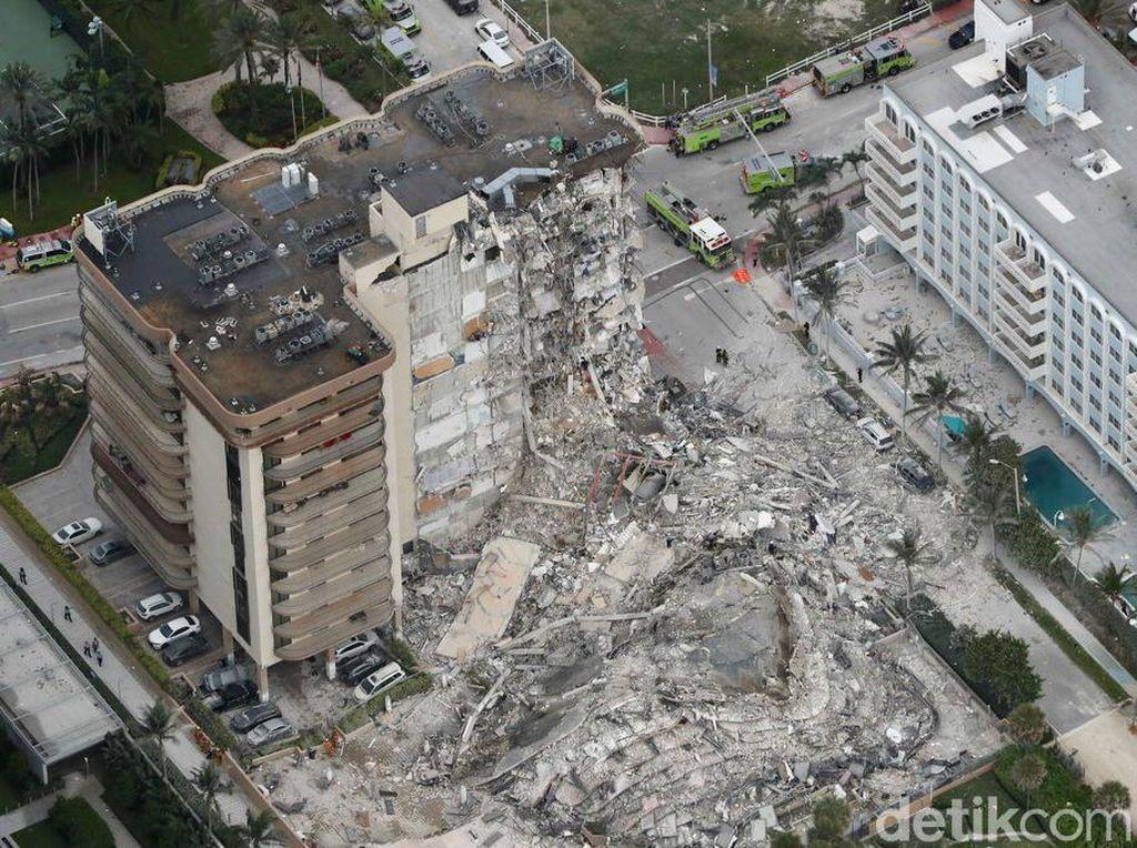Korban Tewas Apartemen Ambruk di Florida Bertambah Jadi 90 Orang