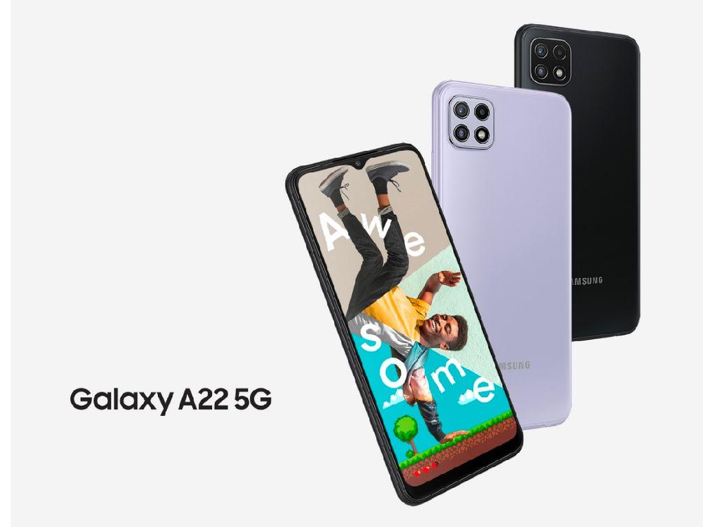 Galaxy A22 5G Dirilis di Indonesia, HP 5G Samsung Harga Terjangkau