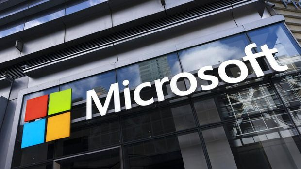 (FILES) In this file photo the Microsoft logo is seen at the International Cybersecurity Forum (FIC) in Lille on January 28, 2020. - Microsoft on June 24, 2021 unveiled a new version of the Windows software powering most of the world's computers, opening the door to apps tailored for Google-backed Android operating system. The US technology titan said Windows 11 will be available this holiday season as a free update to its predecessor. (Photo by DENIS CHARLET / AFP)