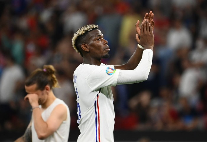 BUDAPEST, HUNGARY - JUNE 23: Paul Pogba of France applauds the fans following the UEFA Euro 2020 Championship Group F match between Portugal and France at Puskas Arena on June 23, 2021 in Budapest, Hungary. (Photo by Franck Fife - Pool/Getty Images)