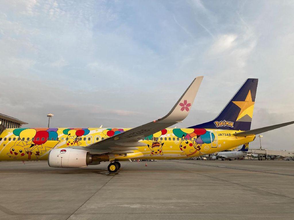 Potret Pesawat Bertema Pikachu, Gemoy!