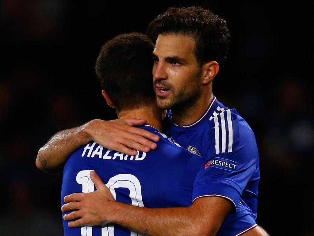 Tepis Mourinho, Fabregas: Hazard Jelek di Madrid karena...