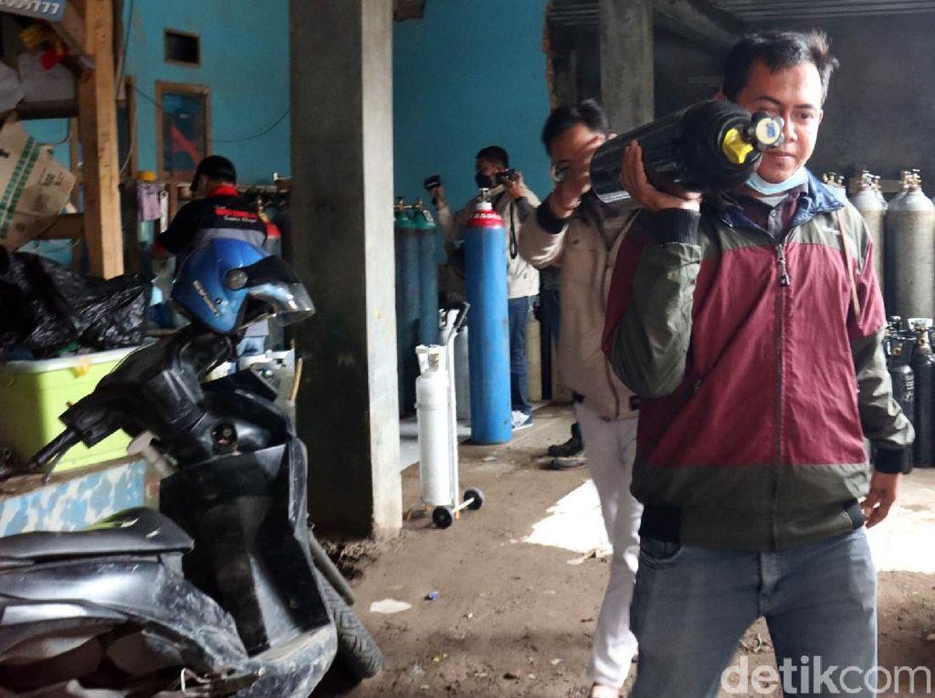 Stok Tabung Oksigen Kosong, Pedagang: Pembelian Kita Batasi