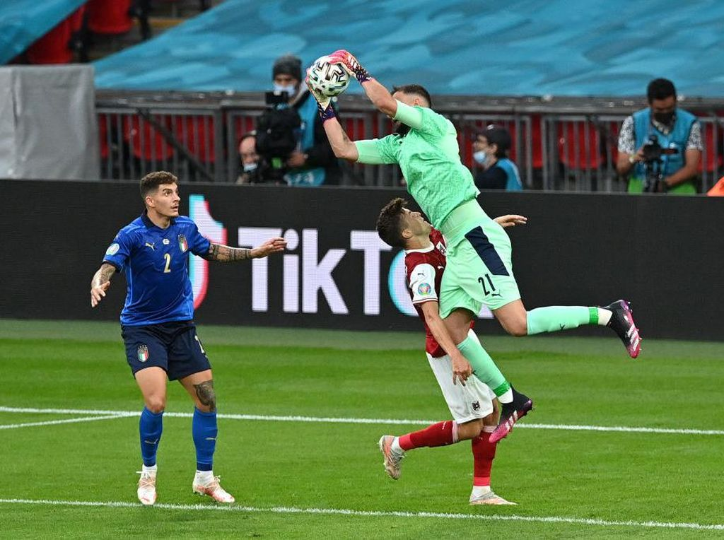 Italia Vs Austria Masih Tanpa Gol di Babak Pertama