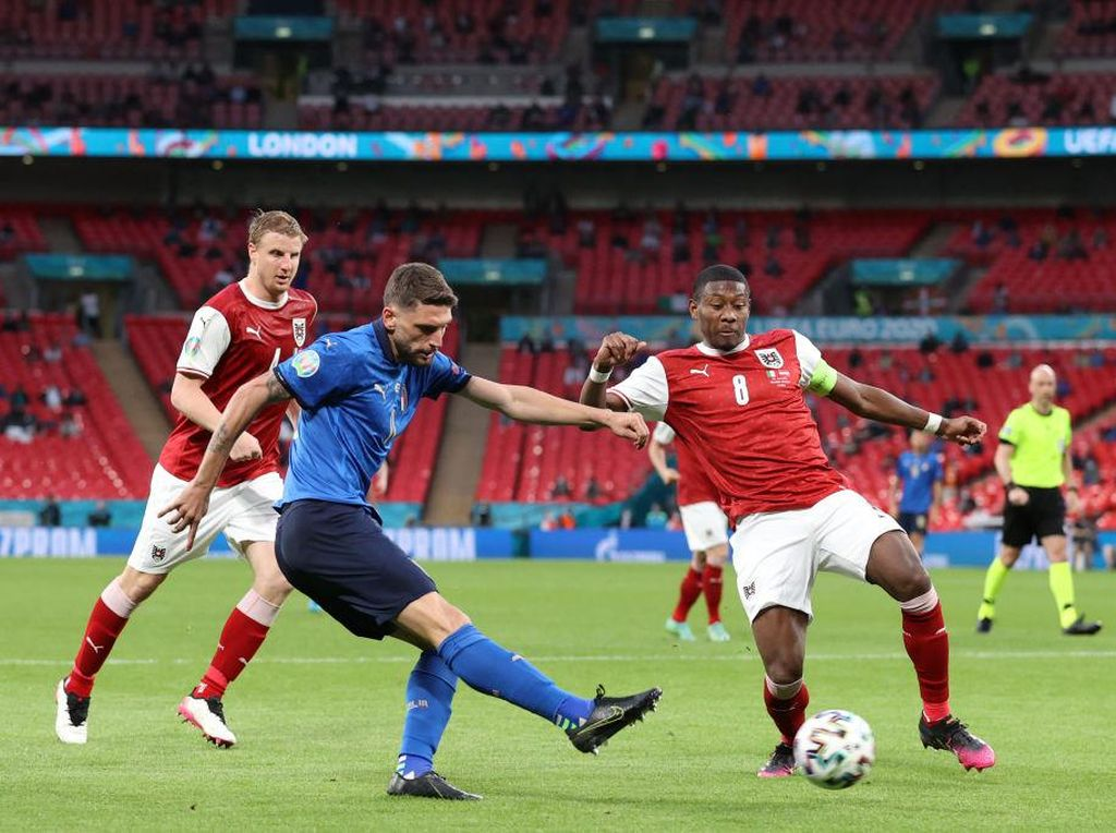 Italia Vs Austria: Masih 0-0, Laga Lanjut ke Perpanjangan Waktu