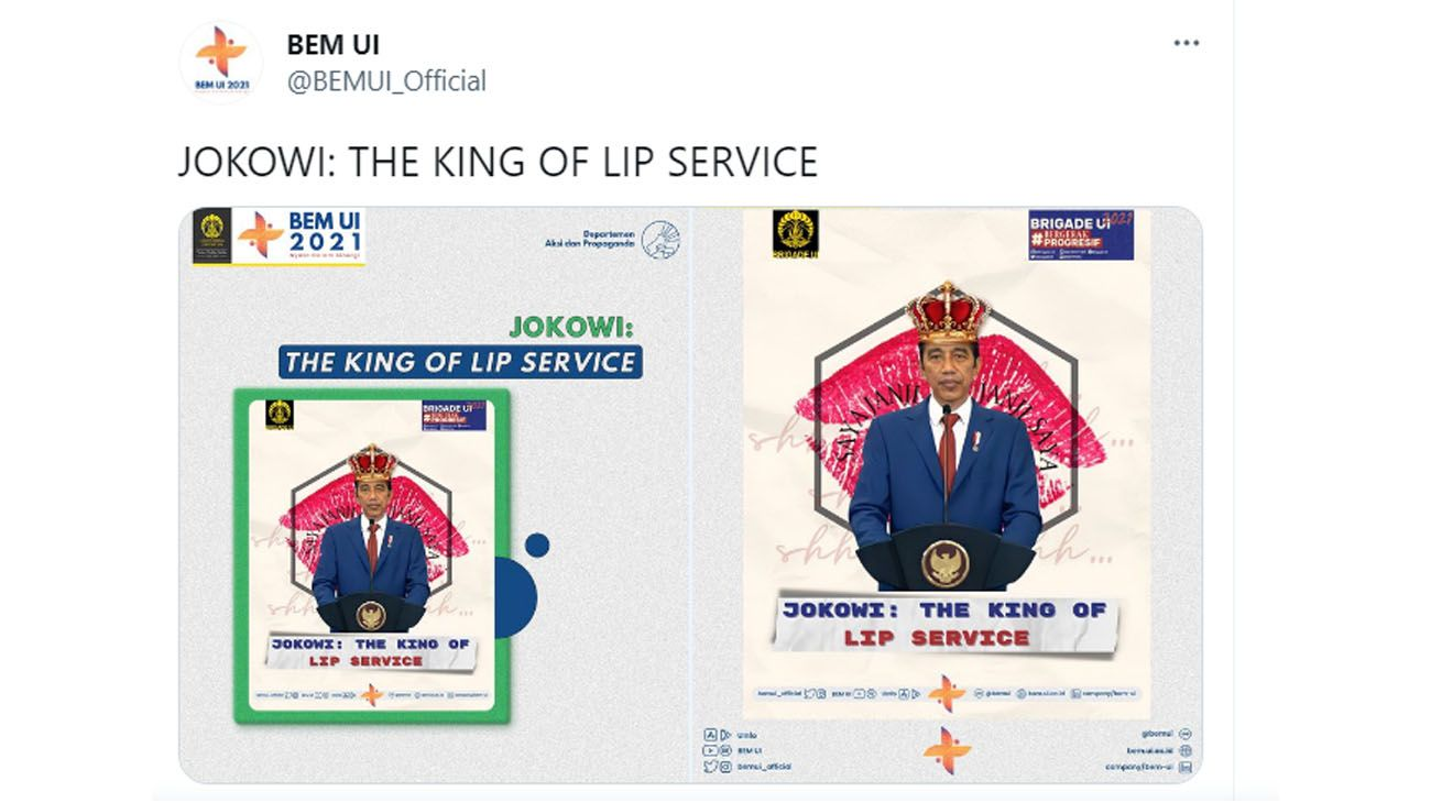 JOKOWI: THE KING OF LIP SERVICE