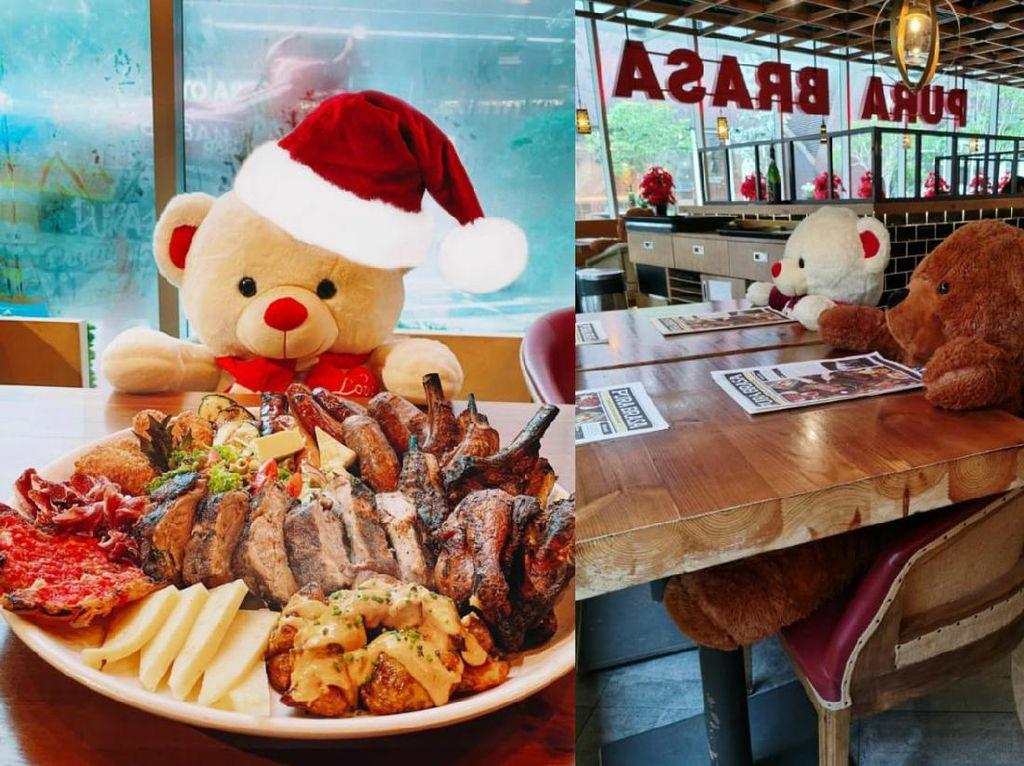 Taruh Boneka Beruang di Kursi, Restoran Ini Ingatkan Prokes Makan di Tempat