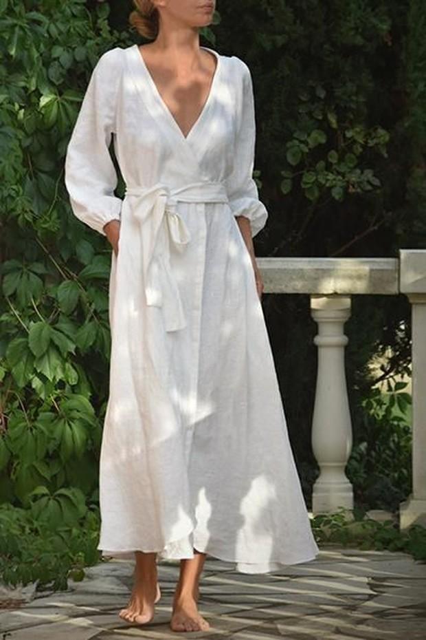 Foto: Linen wrap dress/pinterest.com/Emily Alder