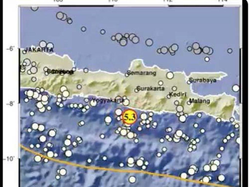 Gempa 5,3 Gunungkidul Terasa di Kediri, Guncangannya Bikin Gelas-Piring Bergoyang