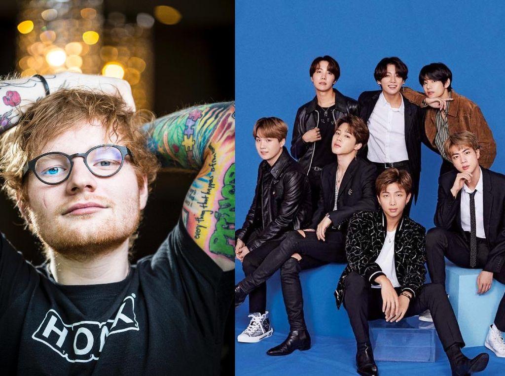 Ed Sheeran Bocorkan Lagu Kolaborasi dengan BTS
