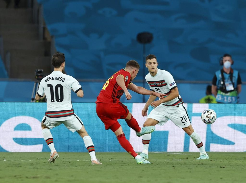 Belgia Vs Portugal: Hazard Bawa Setan Merah Unggul 1-0 di Babak Pertama