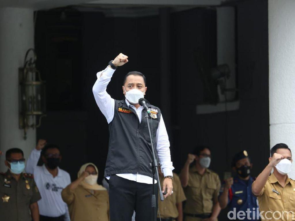 Pekik Takbir Wali Kota Surabaya Nyatakan Jihad Lawan Corona