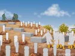 Tembus 90 Ribu, Kematian Corona RI Tambah 10 Ribu Tak Sampai Seminggu