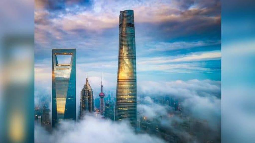 Potret Hotel Tertinggi di Dunia dari China