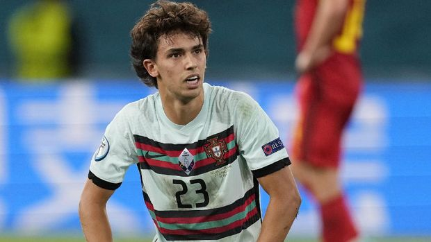 SEVILLE, SPAIN - JUNE 27: Joao Felix of Portugal reacts during the UEFA Euro 2020 Championship Round of 16 match between Belgium and Portugal at Estadio La Cartuja on June 27, 2021 in Seville, Spain. (Photo by Thanassis Stavrakis - Pool/UEFA via Getty Images)