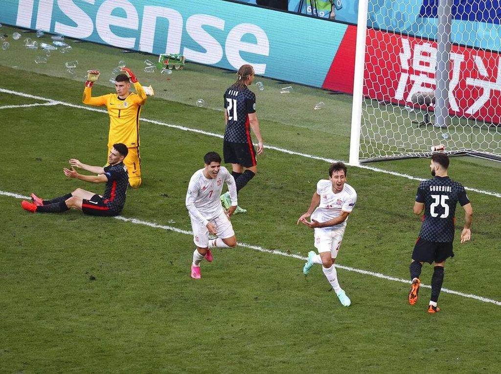Hasil Kroasia Vs Spanyol: Hujan 8 Gol, Tim Matador ke Perempatfinal