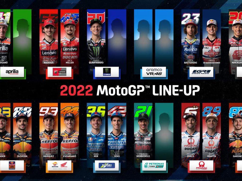 Vinales Tinggalkan Yamaha, Ini Line Up Sementara MotoGP 2022