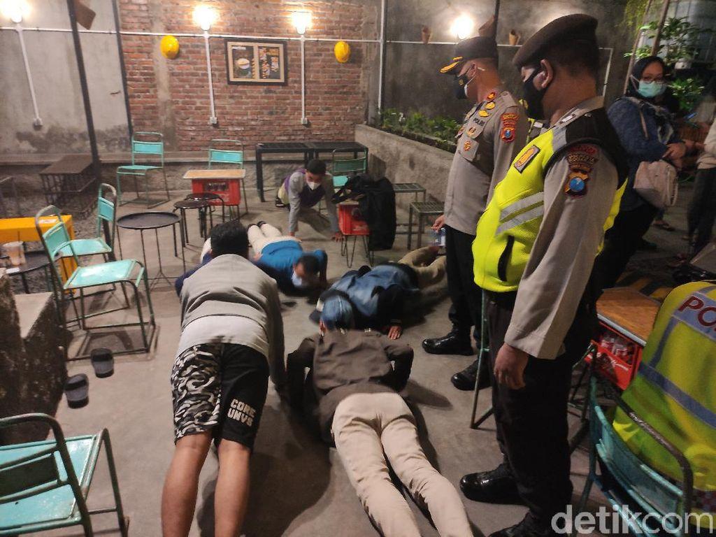 Razia Jam Malam di Sidoarjo, Pengunjung Kafe Kena Tipiring Hingga Push Up