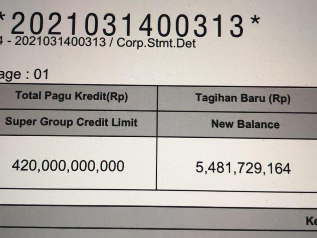 Ini Penampakan Dokumen Kartu Kredit Pertamina Rp 420 Miliar yang Bocor