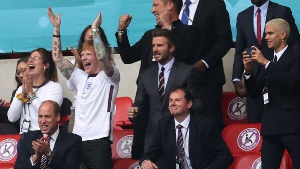Kemenangan Inggris dari Jerman Bikin Ed Sheeran dan Beckham Senyum-senyum
